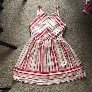 NWT BB Dakota striped fit and flare dress
